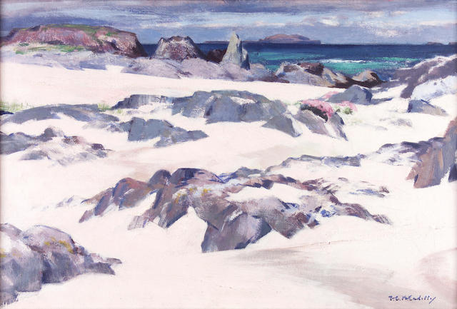 Francis C.B Cadell; Lungha from Iona o/c signed 50cms x 75cms