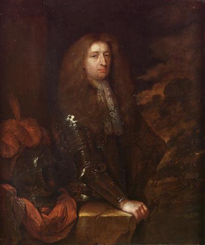 Caspar Netscher (Heidelberg 1639-1684 The Hague) Portrait of an officer, small three-quarter-length, 48.8 x 39.3 cm. (19¼ x 15½ in.)