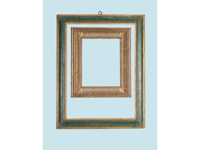 An Italian 17th Century polychromed moulding frame,