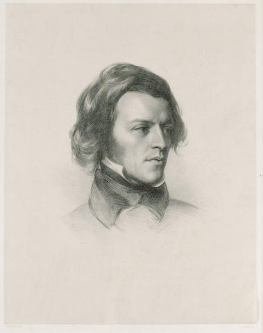 TENNYSON, ALFRED, Lord (1809-1892, poet, Poet Laureate) PORTRAIT BY JAMES HENRY LYNCH (d. 1868) AFTER SAMUEL LAURENCE P.R.A. (1812-1884),