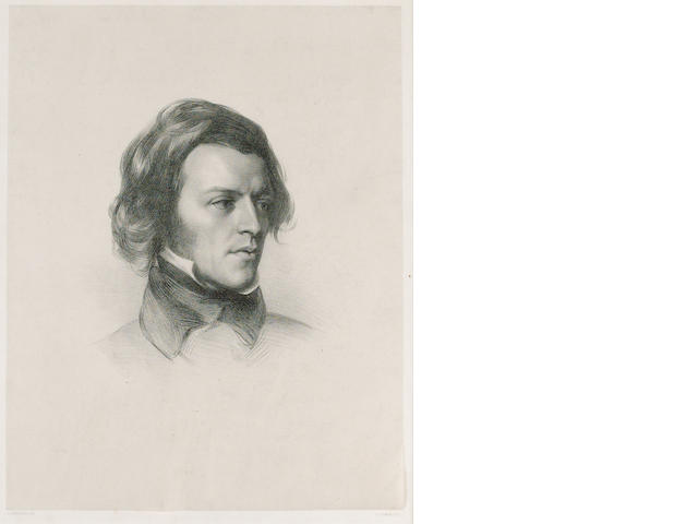 TENNYSON, ALFRED, Lord (1809-1892, poet) PORTRAIT BY JAMES HENRY LYNCH (d. 1868) AFTER SAMUEL LAUREN