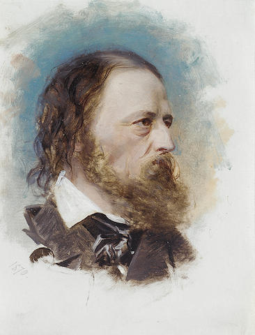TENNYSON, ALFRED, Lord (1809-1892, poet) PORTRAIT BY 'C.E.C.',
