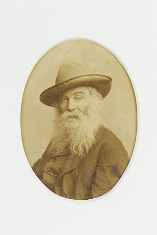 WHITMAN, WALT (1819-1892, American poet) PORTRAIT BY HENRY ULKE AND BROTHERS,