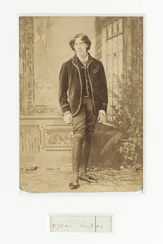 WILDE, OSCAR (1854-1900, poet and playwright) PORTRAIT BY NAPOLEON SARONY (1812-1896),