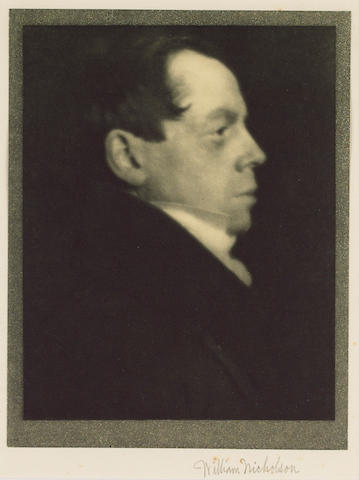 NICHOLSON, WILLIAM (1872-1949, artist, N.E.A.C., R.P.) PORTRAIT BY ALVIN LANGDON COBURN (1882-1966),