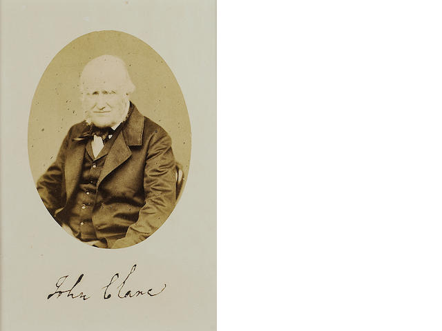CLARE, JOHN (1793-1864, poet, farm labourer and naturalist) PORTRAIT [BY W.W. LAW OF GOLD STREET NOR