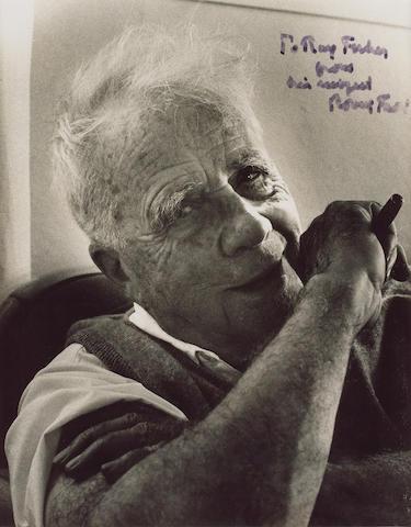 FROST, ROBERT (1874-1963, American poet) PORTRAIT,