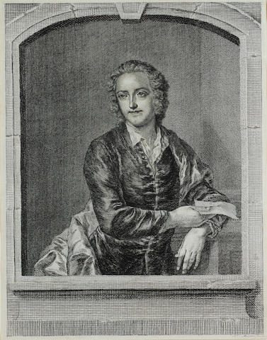 GRAY, THOMAS (1716-1771, poet) PORTRAIT BY JOHANN SEBASTIAN MULLER/JOHN MILLER (1715-1785) AFTER JOH
