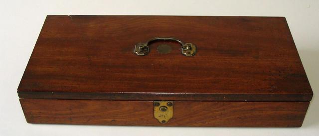 A 19th Century mahogany pistol case