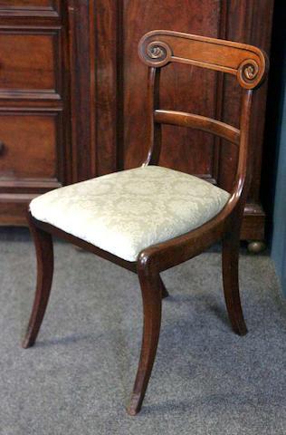 A set of six Regency mahogany Dining Chairs,