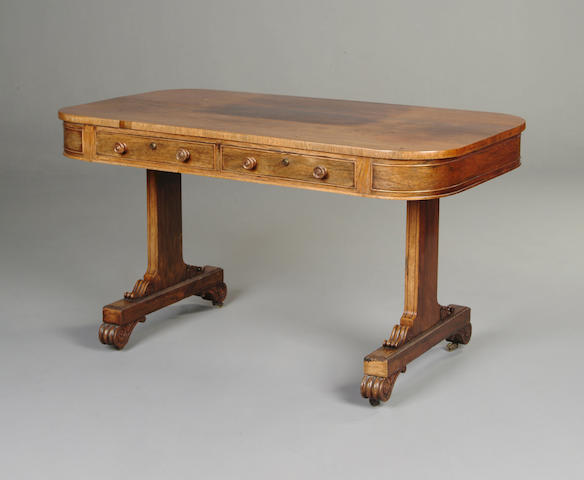 A William IV rosewood centre table