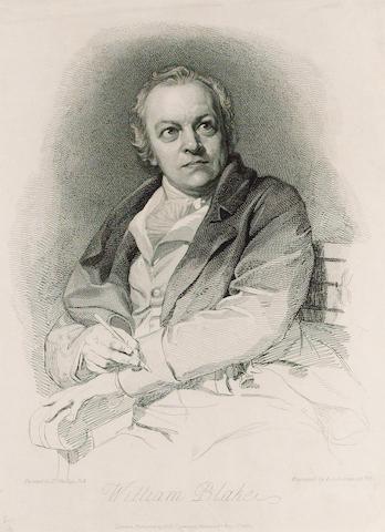 BLAKE, WILLIAM (1757-1827, poet and artist) PORTRAIT BY LUIGI SCHIAVONETTI (1765-1810) AFTER THOMAS