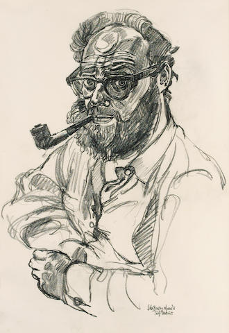 BRATBY, JOHN (1928-1992, artist and novelist) SELF-PORTRAIT,