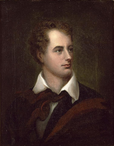 BYRON, GEORGE GORDON, Lord (1788-1824, poet) PORTRAIT, CIRCLE OF THOMAS PHILLIPS R.A. (1770-1845),