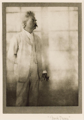 CLEMENS, SAMUEL LANGHORNE (1835-1910, American novelist and humorist known as 'Mark Twain') PORTRAIT BY ALVIN LANGDON COBURN (1882-1966),