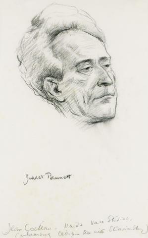 COCTEAU, JEAN (1889-1963, playwright, novelist, film-maker, poet, librettist, designer, artist) PORTRAIT BY JULIET PANNETT (b. 1911)