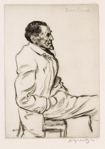 CONRAD, JOSEPH (1857-1924, novelist) PORTRAIT BY SIR MUIRHEAD BONE (1876-1953),