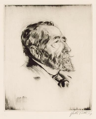 CONRAD, JOSEPH (1857-1924, novelist)  PORTRAIT BY WALTER TITTLE (1883-1966),</br>