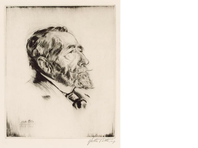 CONRAD, JOSEPH (1857-1924, novelist) PORTRAIT BY WALTER TITTLE (1883-1966),