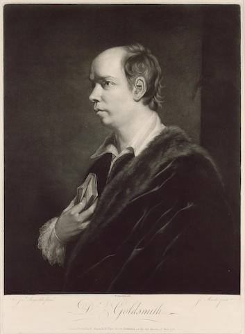 GOLDSMITH, OLIVER (1728-1774, poet, novelist and playwright, close friend of Reynolds) PORTRAIT BY G