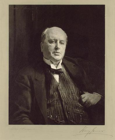 JAMES, HENRY (1843-1916, novelist, O.M.) PORTRAIT AFTER JOHN SINGER SARGENT R.A., R.P. (1856-1925),