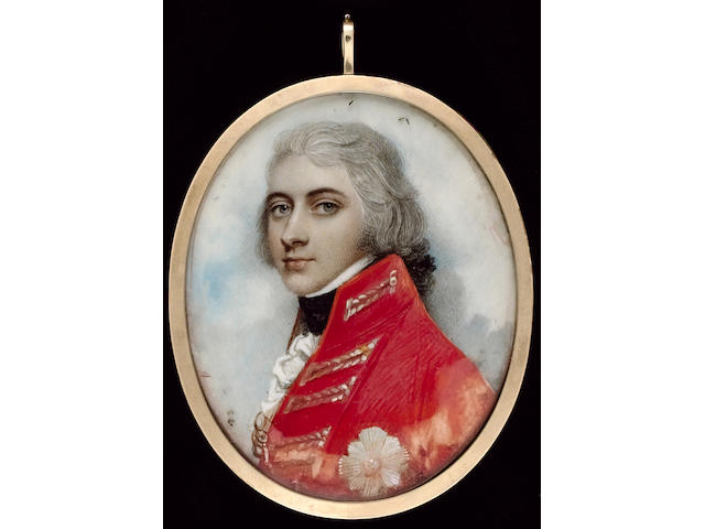 Andrew Plimer, General Sir William Henry Pringle, wearing scarlet coat with silver lace, the order of the Bath on his chest, his hair powdered and worn en queue