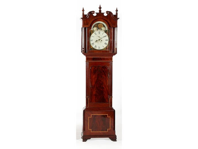 A mahogany painted dial longcase clock, Wilkinson, London, circa 1835,