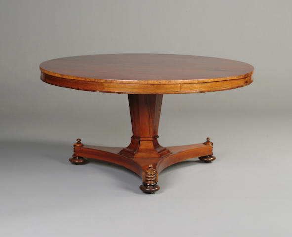 A William IV rosewood breakfast table