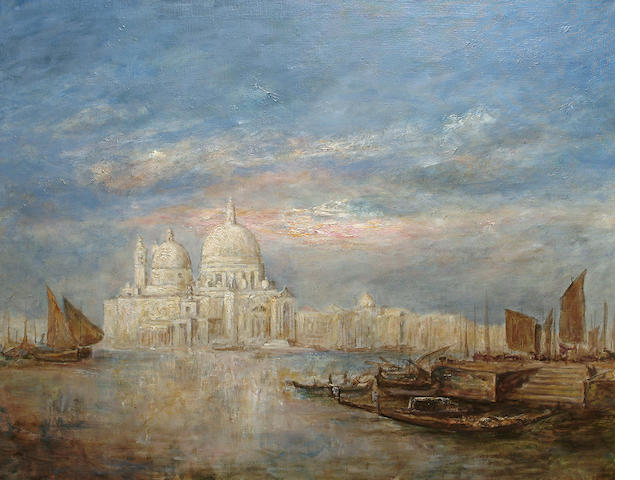 Manner of James Mallord William Turner Santa Maria della Salute and the Punta della Dogana, 81 x 101