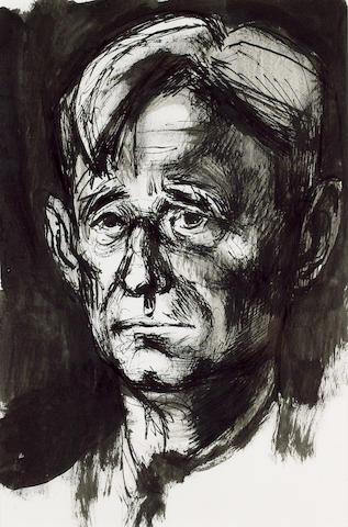 ISHERWOOD, CHRISTOPHER (1909-1986, playwright and novelist) PORTRAIT BY MICHAEL AYRTON (1921-1975),