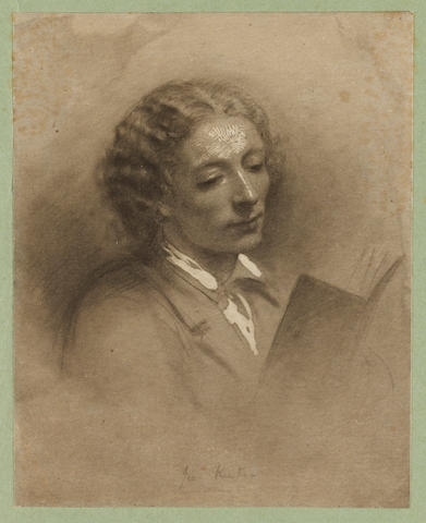 KEATS, JOHN (1795-1821, poet) PORTRAIT BY FREDERICK HOLLYER (1837-1933) [? AFTER JOSEPH SEVERN'S DAU