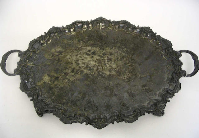 A Victorian twin handled tray By Barber Brothers, Birmingham, 1894,