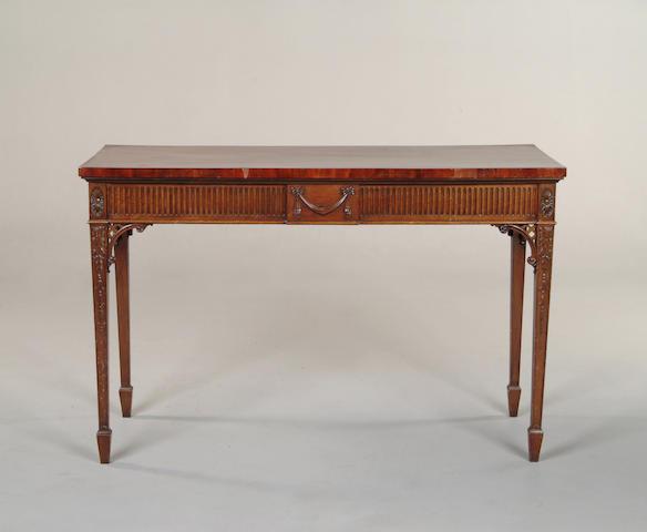 An Adam style mahogany side table
