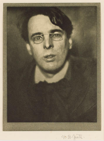 YEATS, W[ILLIAM] B[UTLER] (1865-1939, Irish poet) PORTRAIT BY ALVIN LANGDON COBURN (1882-1966),
