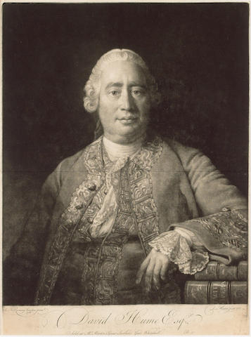 HUME, DAVID (1711-1776, philosopher and historian) PORTRAIT BY DAVID MARTIN (1737-1797) AFTER ALLAN RAMSAY (1713-1784),