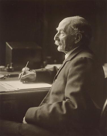 HARDY, THOMAS (1840-1928, poet and novelist, O.M.) PORTRAIT BY OLIVE EDIS (1876-1955),