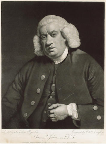 JOHNSON, Dr. SAMUEL (1709-1784, critic, poet and lexicographer) PORTRAIT BY WILLIAM DOUGHTY (1757-17