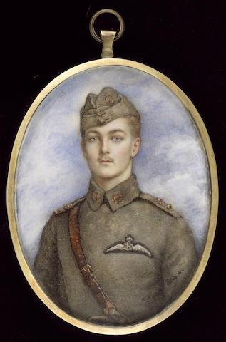 Mrs. Evelyn Byam Shaw, Lt. Augustus John Jessopp (1894-1917), wearing the uniform of the Royal Flying Corps