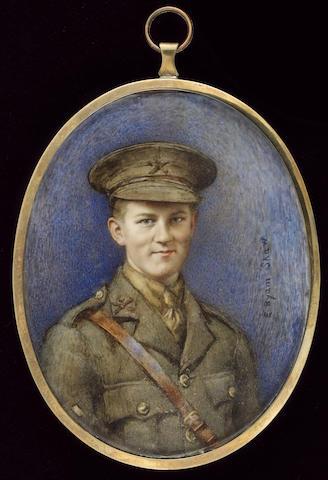 Mrs. Evelyn Byam Shaw, Lt. Walter Leverton Jessopp (1897-1917), wearing the uniform of the Machine Gun Corps (Infantry)