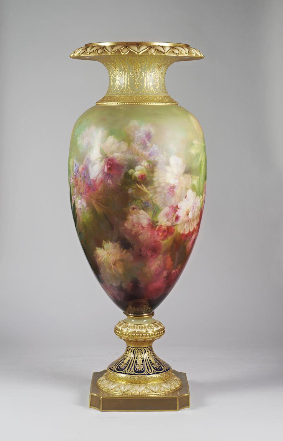 Burslem Items A Magnificent Burslem Exhibition Vase (S.R) (see Burslem Book)