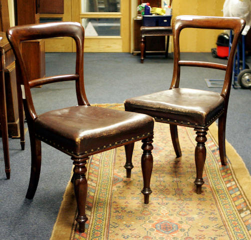 A set of seven Victorian mahogany Dining Chairs and one similar, (8)