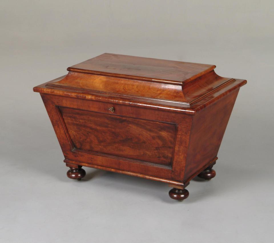 An early 19th Century mahogany cellarette