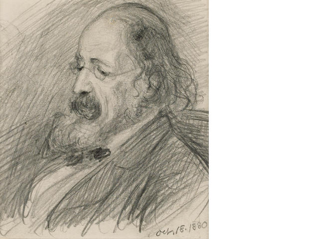 TENNYSON ALFRED, Lord (1809-1892, poet) PORTRAIT BY HELEN ALLINGHAM (1848-1926),
