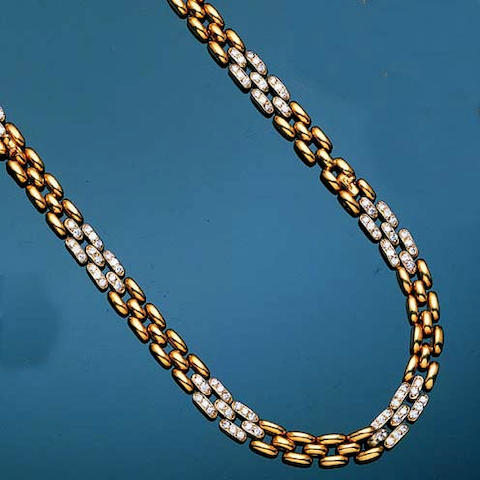 A 'Panthére de Cartier' diamond necklace and bracelet suite,, by Cartier