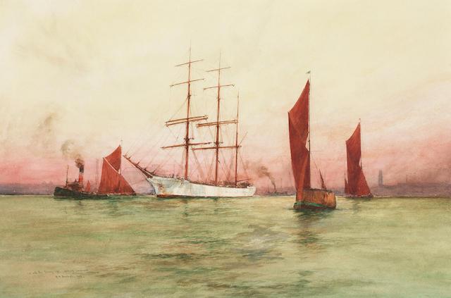 William Minshall Birchall (British, 1884-1941) 34.3 x 52 cm (13 1/2 x 20 1/2 in)