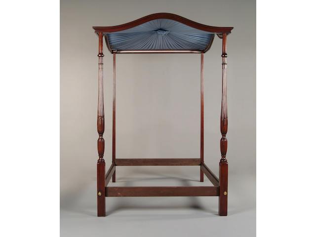 A mahogany tester bed