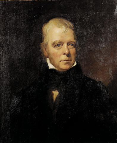 SCOTT, Sir WALTER (1771-1832, poet, novelist, historian and biographer) PORTRAIT BY COLVIN SMITH R.S