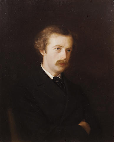 SYMONS, ARTHUR [WILLIAM] (1865-1945, poet and critic) PORTRAIT BY MATHILDE LA COMTESSE VICTOR SALLIE