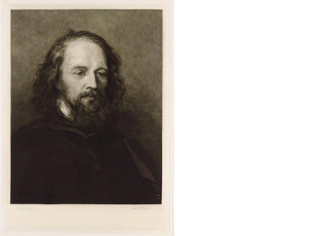 TENNYSON, ALFRED, Lord (1809-1892, poet) PORTRAIT BY SIR FRANK SHORT R.A., P.R.E. (1857-1945) AFTER