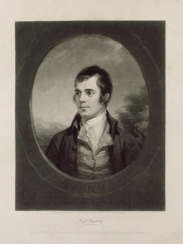 BURNS, ROBERT (1759-1796, poet) PORTRAIT BY WILLIAM WALKER (1791-1867) AND SAMUEL COUSINS (1801-1887